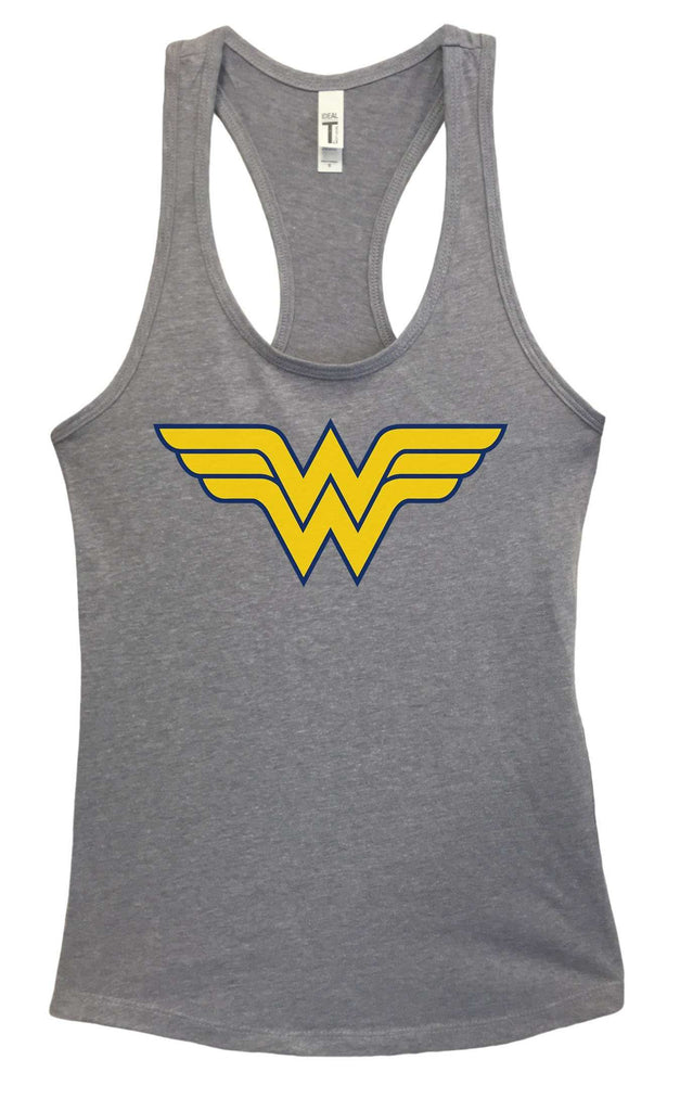 Womens Wonder Woman Grapahic Design Fitted Tank Top Funny Shirt Small / Heather Grey
