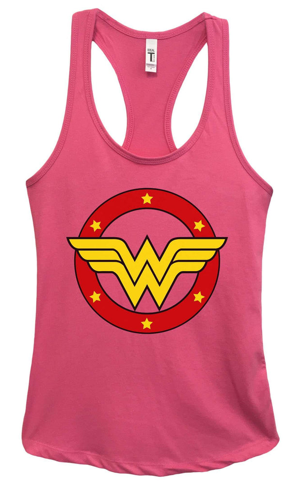 Womens Wonder Woman Grapahic Design Fitted Tank Top Funny Shirt Small / Fuchsia