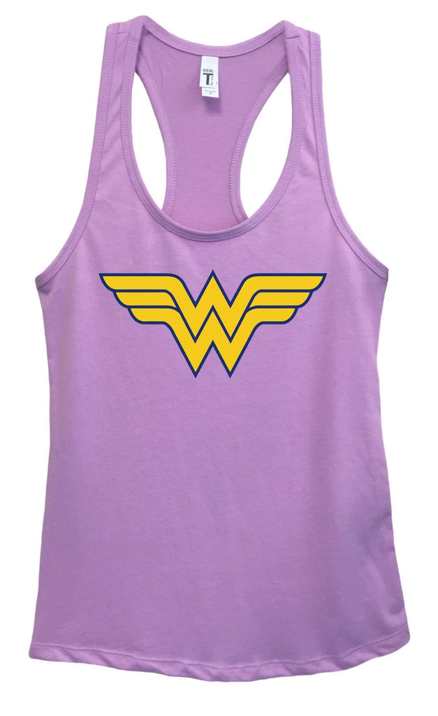 Womens Wonder Woman Grapahic Design Fitted Tank Top Funny Shirt Small / Lavender