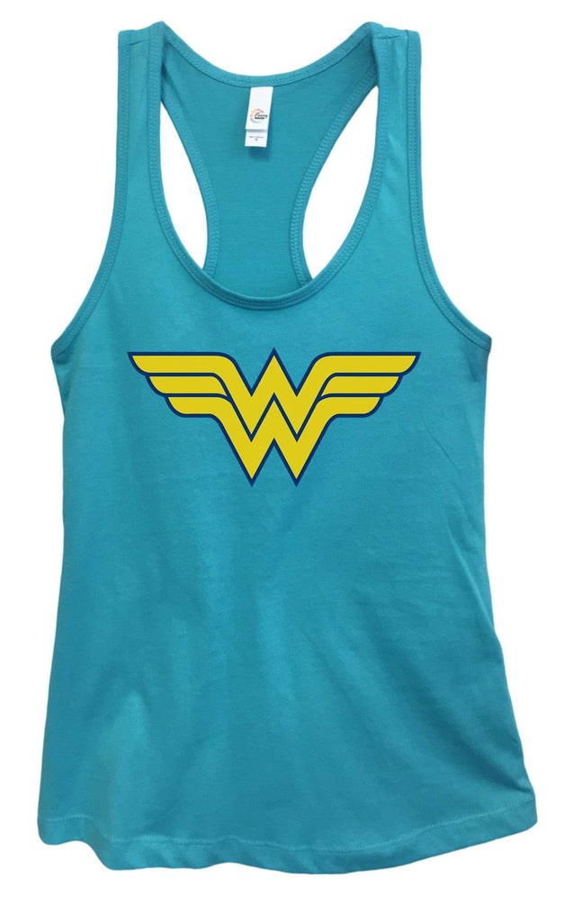Womens Wonder Woman Grapahic Design Fitted Tank Top Funny Shirt Small / Sky Blue