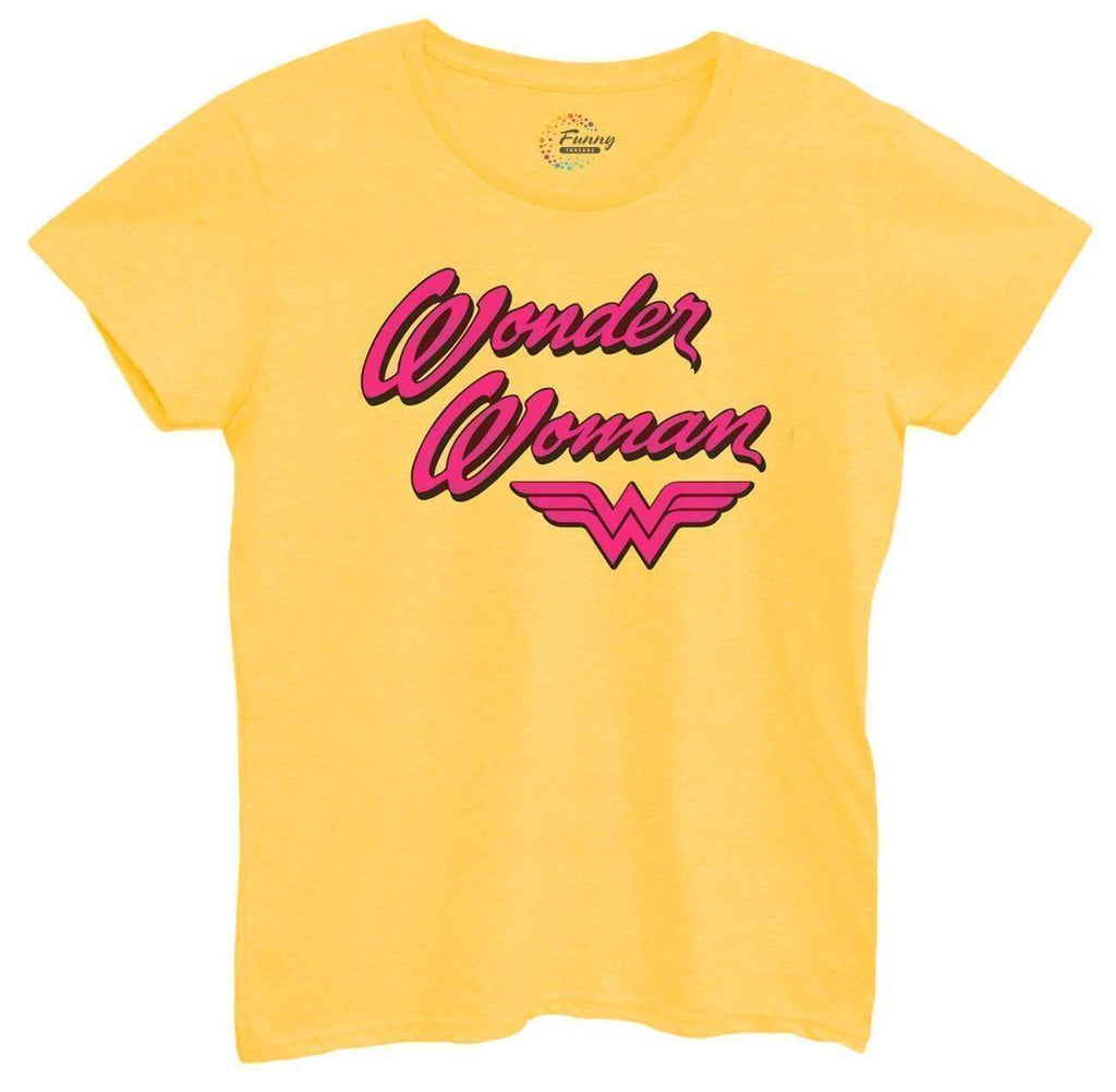Womens Wonder Woman Tshirt Funny Shirt Small / Yellow Tshirt