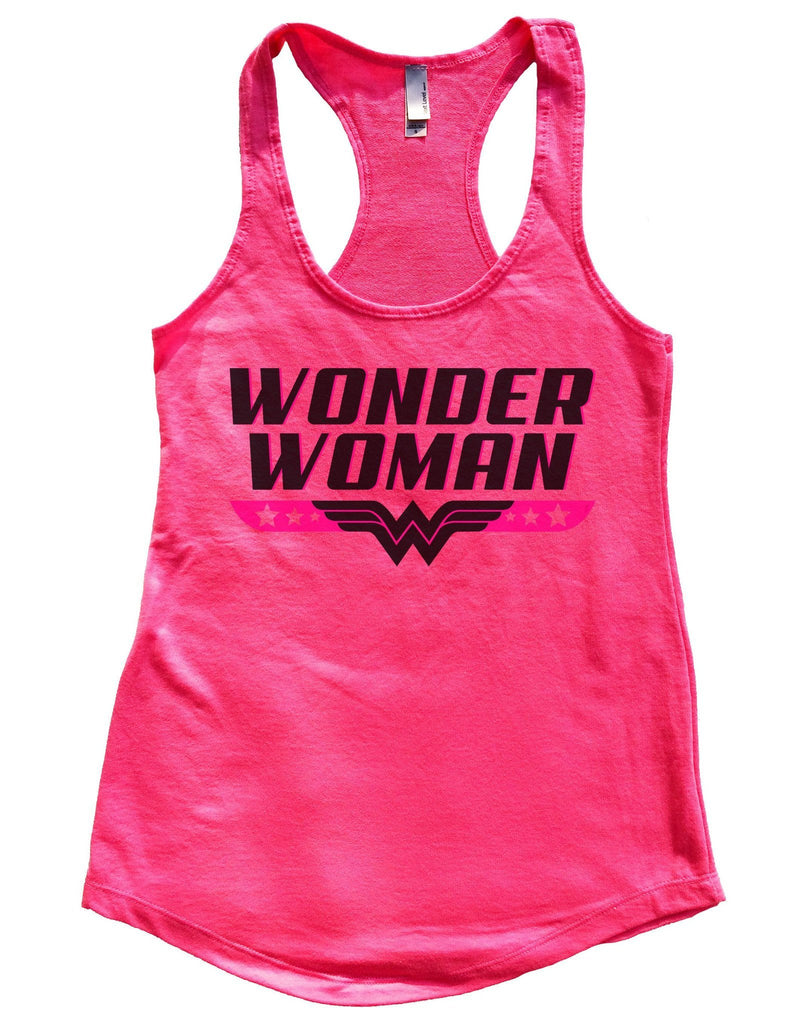 Wonder Woman Womens Workout Tank Top Funny Shirt Small / Hot Pink