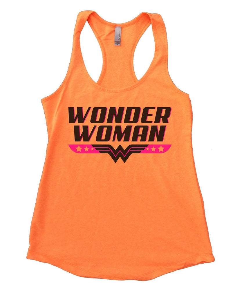 Wonder Woman Womens Workout Tank Top Funny Shirt Small / Neon Orange