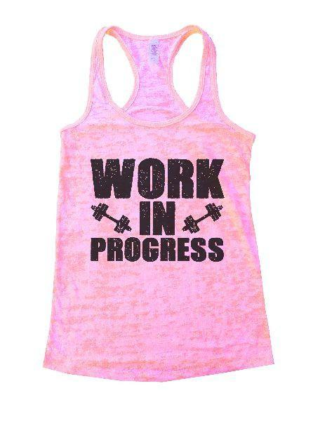 Work In Progress Burnout Tank Top By Funny Threadz Funny Shirt Small / Light Pink