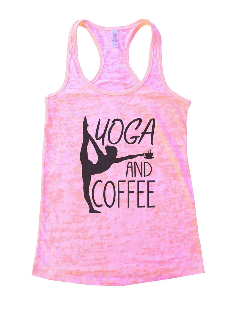 Yoga And Coffee Burnout Tank Top By Funny Threadz Funny Shirt Small / Light Pink