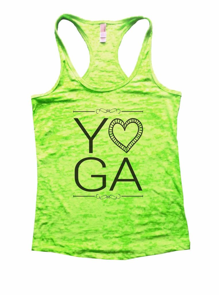 Yoga Burnout Tank Top By Funny Threadz Funny Shirt Small / Neon Green