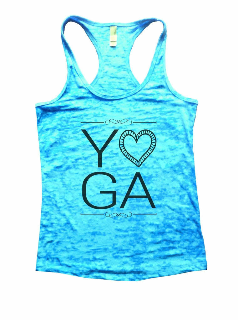 Yoga Burnout Tank Top By Funny Threadz Funny Shirt Small / Tahiti Blue