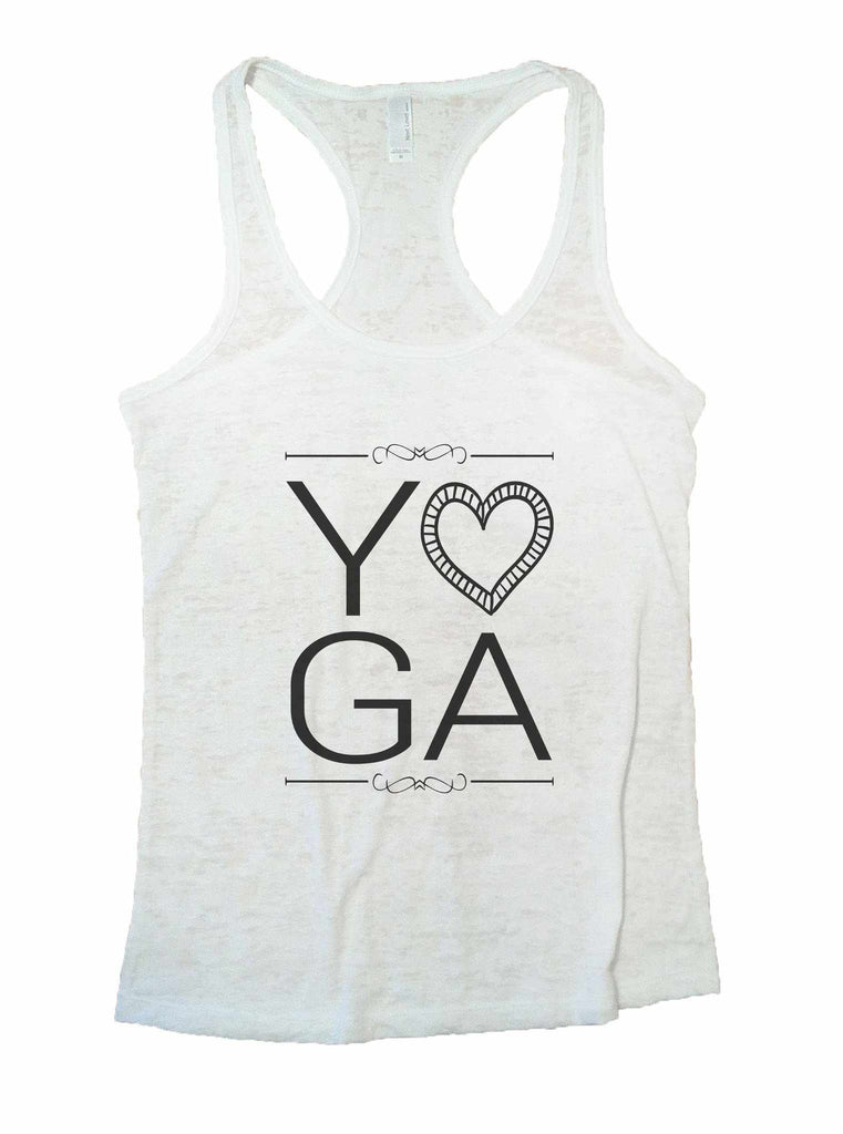 Yoga Burnout Tank Top By Funny Threadz Funny Shirt Small / White