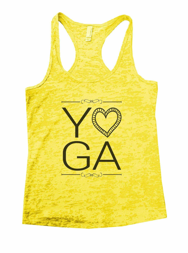 Yoga Burnout Tank Top By Funny Threadz Funny Shirt Small / Yellow