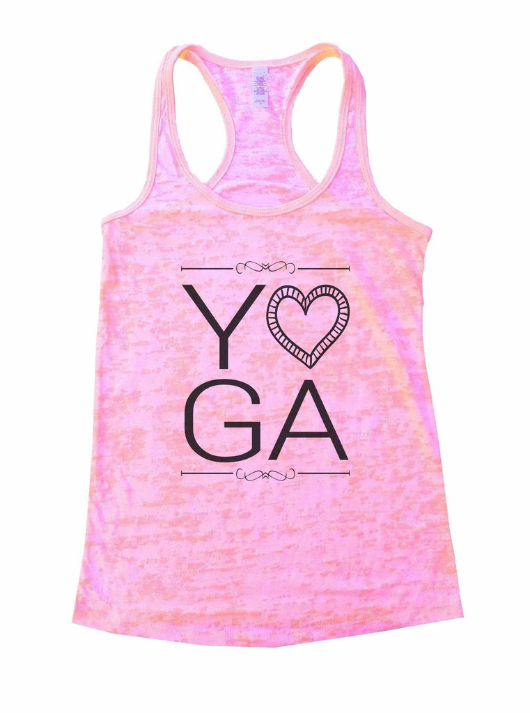 Yoga Burnout Tank Top By Funny Threadz Funny Shirt Small / Light Pink