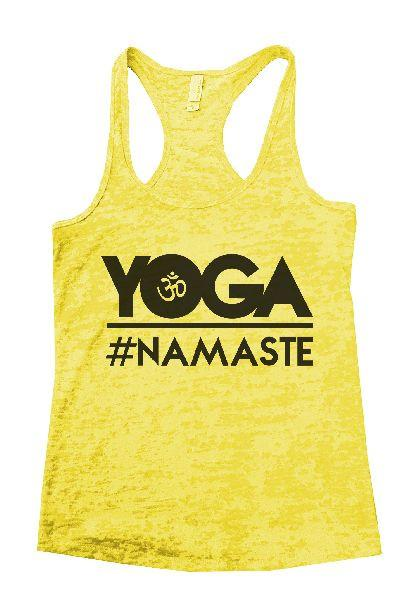 Yoga Namaste Burnout Tank Top By Funny Threadz