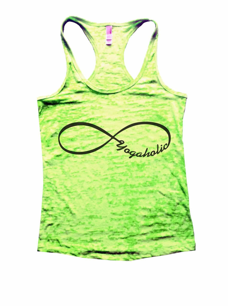 Yogaholic Burnout Tank Top By Funny Threadz Funny Shirt Small / Neon Green