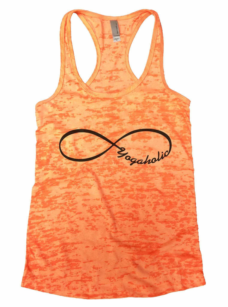 Yogaholic Burnout Tank Top By Funny Threadz Funny Shirt Small / Neon Orange