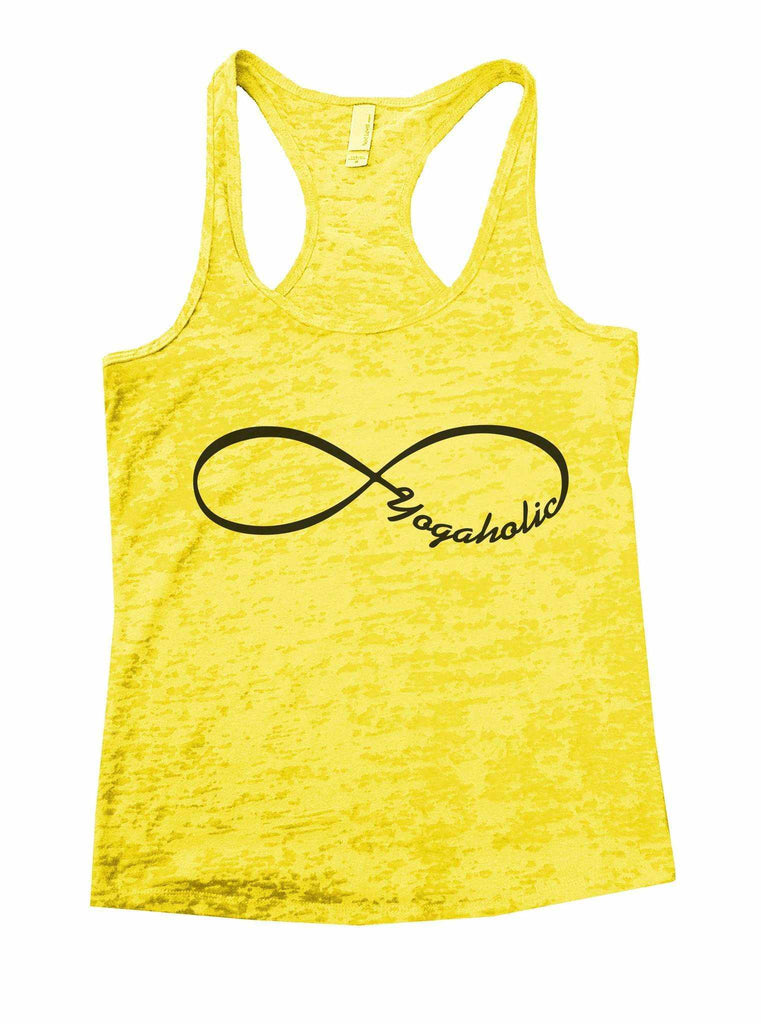 Yogaholic Burnout Tank Top By Funny Threadz Funny Shirt Small / Yellow