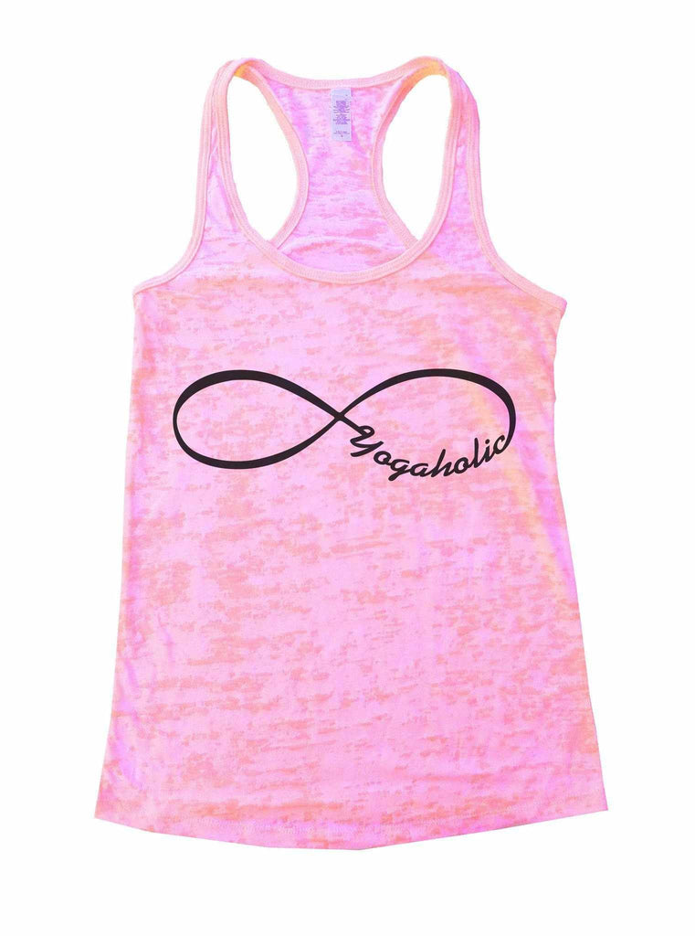 Yogaholic Burnout Tank Top By Funny Threadz Funny Shirt Small / Light Pink
