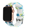 blue and green flower apple watch strap