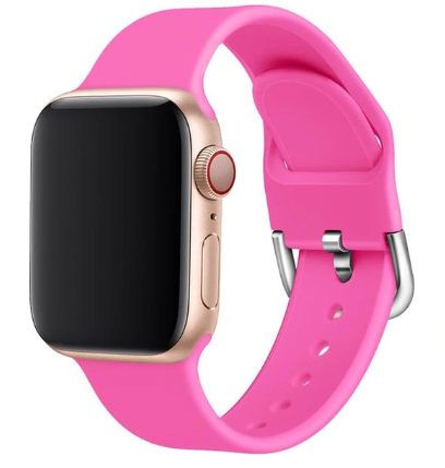 apple watch sports loop hot pink strap