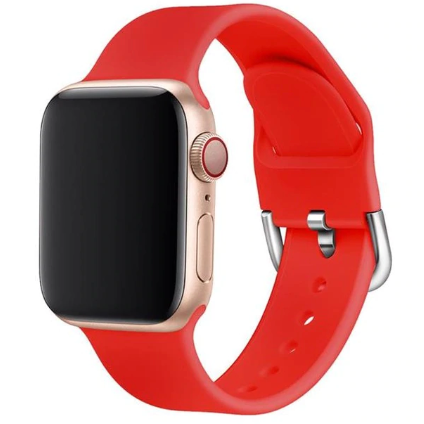 apple watch sports loop red strap