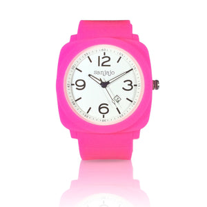 sanjajo floridian hot pink watch