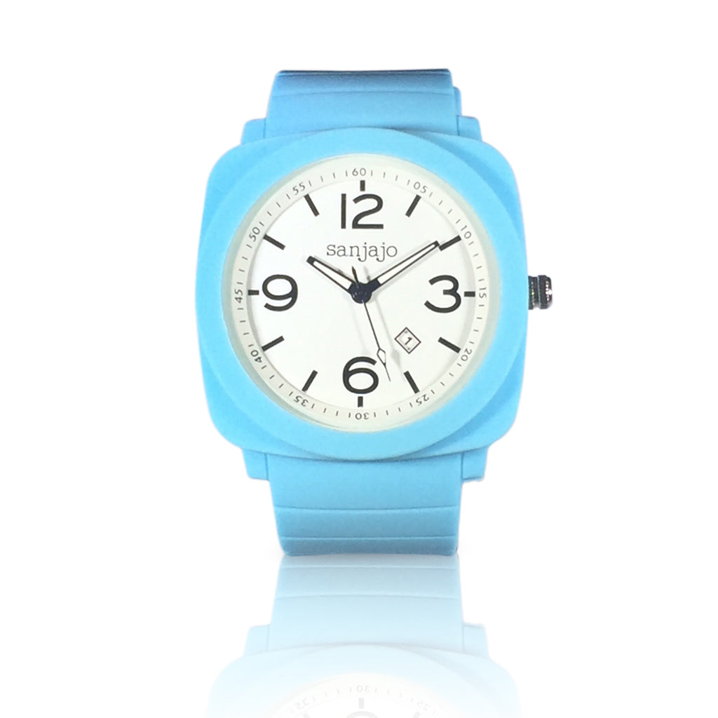 sanjajo floridian light blue watch