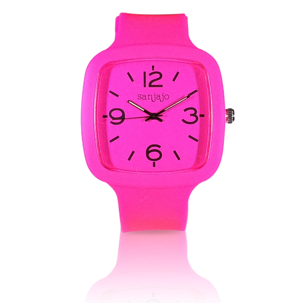 sanjajo the mar hot pink watch