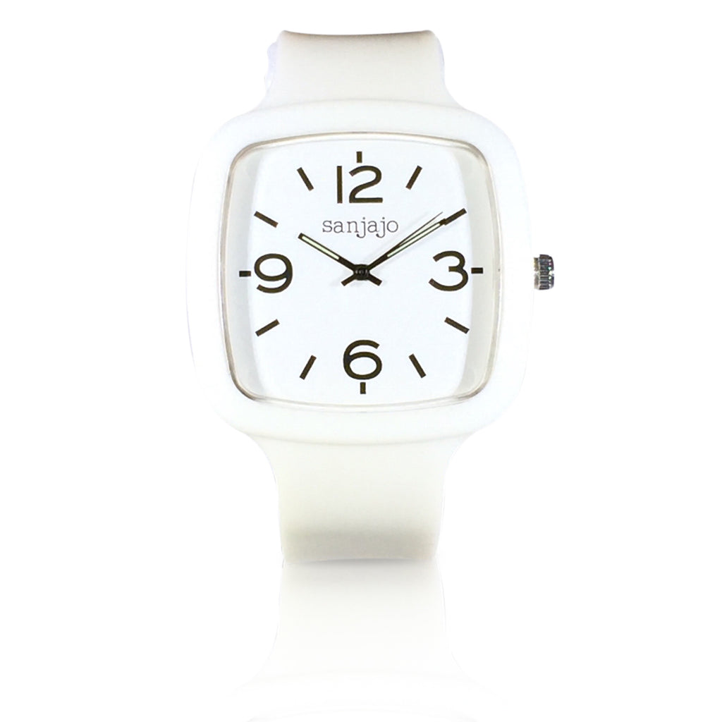 sanjajo the mar white watch