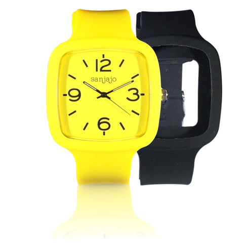 sanjajo the mar yellow watch combo pack