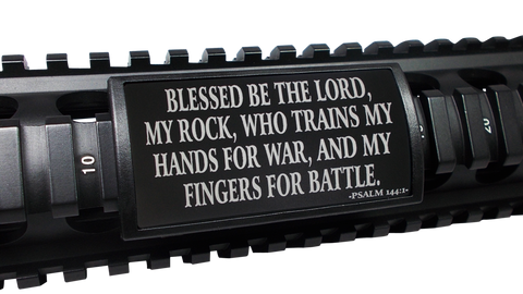 "Custom Gun Rails - ""...Fingers For Battle. ""Psalm 144:1, Large (LEA)"