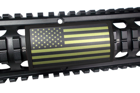 Custom Gun Rails - OD Green U.S. Flag, Large PERMODIZE® (PMA)