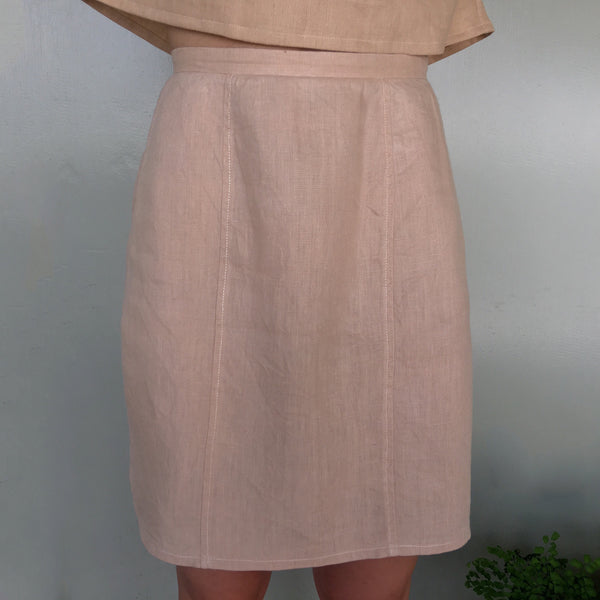 Yarrow Skirt in Butterscotch Linen