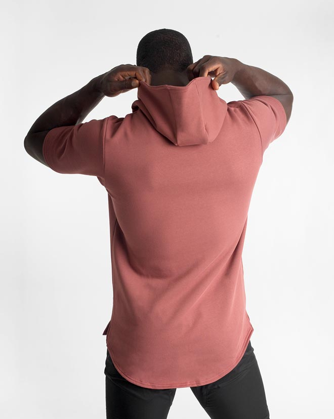 Athleisure SS. Hood - Red Clay