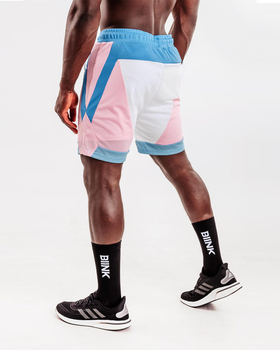 Mesh Panel 2-in-1 Basketball Shorts - Miami