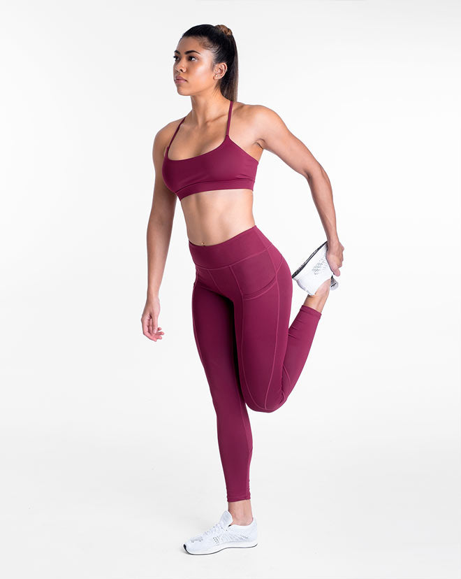 Contour Leggings - Red Plum