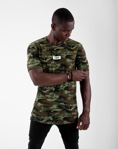 Box Logo Cardinal Scoop Tee - Camo