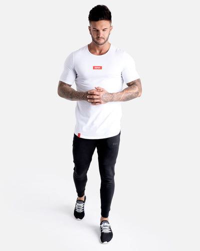 Box Logo Cardinal Scoop Tee - Crisp White