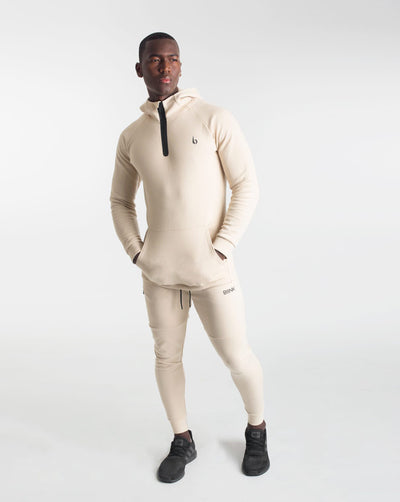 CrossFleece 1/4 Zip Hood - Ivory