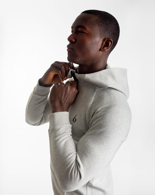 CrossFleece 1/4 Zip Hood - Marl Grey