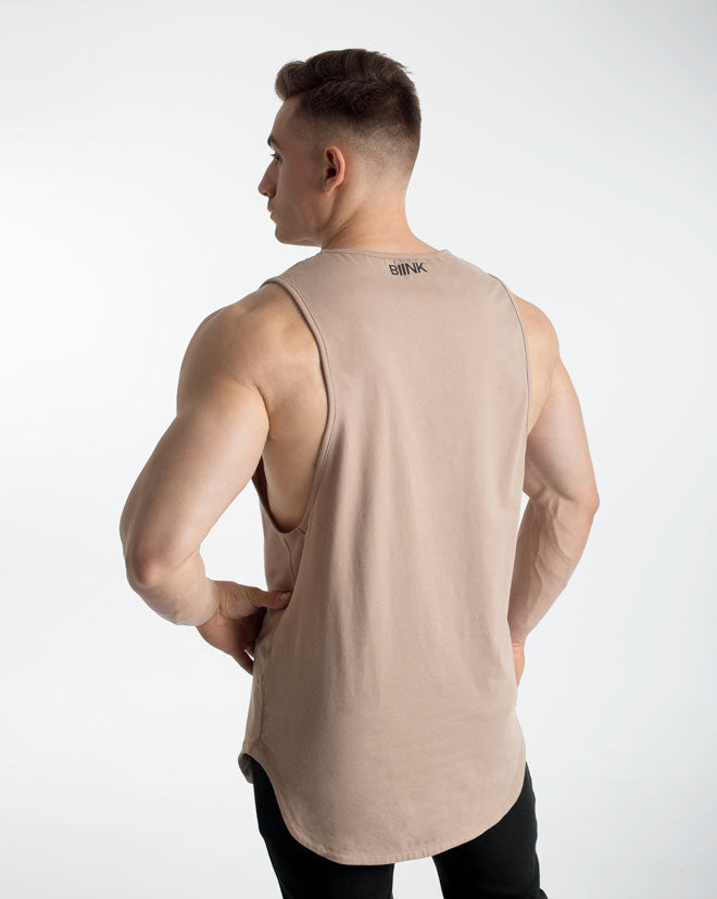 Cut-Off Tank - Taupe