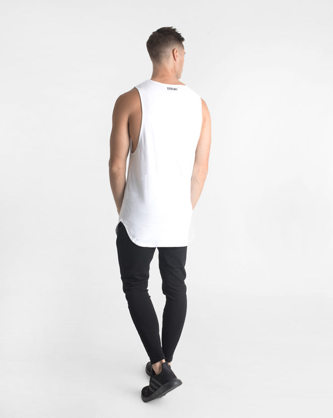 Cut-Off Tank - White