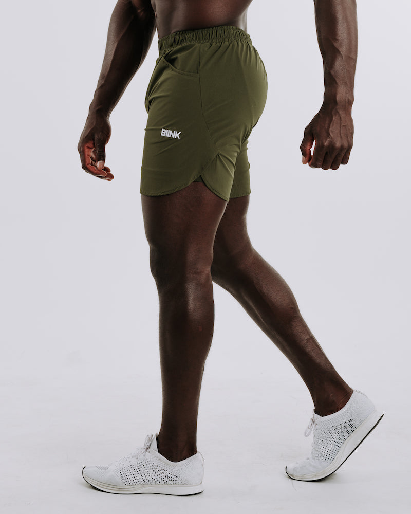 BIINKDRY 2-in-1 Training Shorts MK.II - Infantry Green
