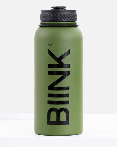 BIINK Stainless Steel 1L Water Bottle - Military Green