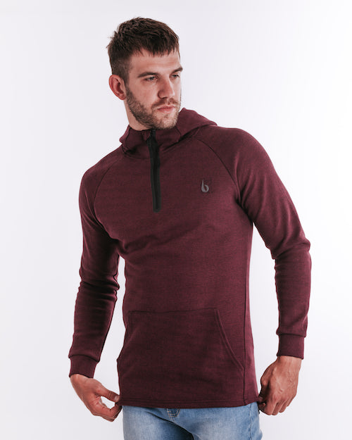 CrossFleece 1/4 Zip Hood - Port