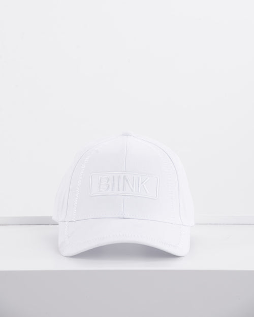 BIINK Logo Embroidery Cap - Triple White