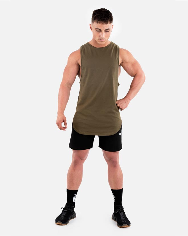 Cut-Off Tank - Military Green