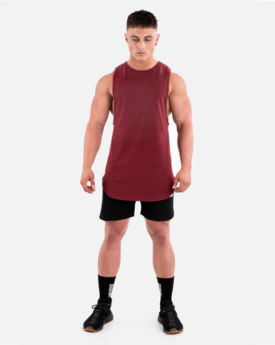 Cut-Off Tank - Maroon
