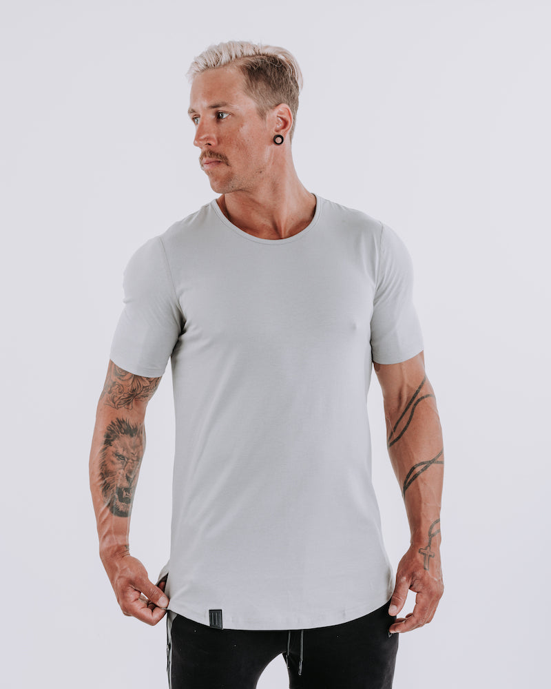 Cardinal V2 Scoop Tee - Cloud Grey