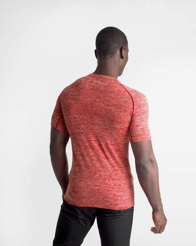 Seamless Knit Shirt - Crimson Marl