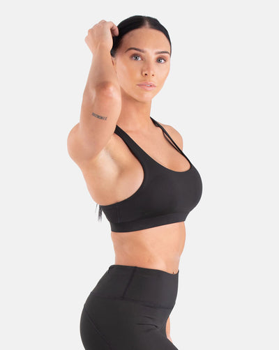 Staple Mesh Sports Bra - Black