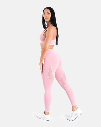 Staple Mesh Leggings - Lilac
