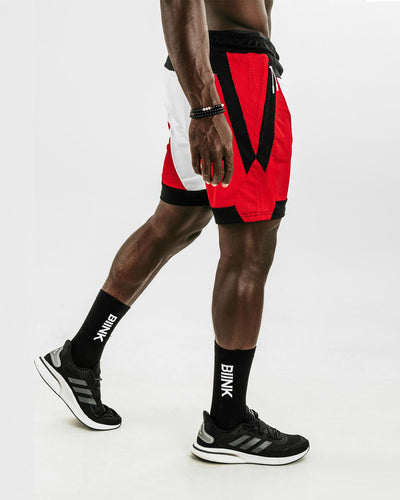 Mesh Panel 2-in-1 Basketball Shorts - Chicago